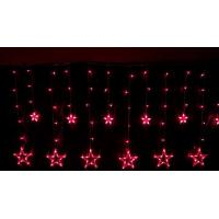 China New Christmas Red LED icicle string star light for wedding ceremony decoratin on sale