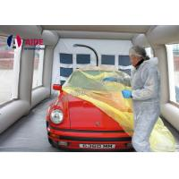 Cheap Mobile Used Inflatable Paint Booth , Gray Environmental Car Painting Tent for sale