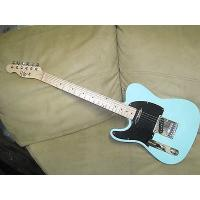 China Customized Solid Blue Left Handed Electric Guitar Custom Tele Plus Gig Bag on sale