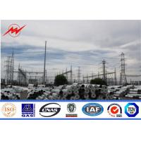 China Octagonal galvanization electrical power pole for transmission pole on sale