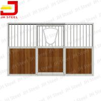 Quality Metal Paddock Stable Riding Shed Horse Stall Panels With Sliding Door wholesale