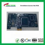 Quality Blue Multilayer PCB Board 6l fr4 1.6MM LF HASL + GOLD FINGER wholesale