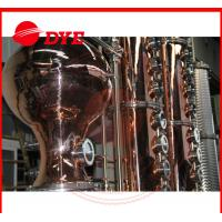Quality Turn-key Red Copper Alcohol Distilling Machine for Wisky,Vodka,Moonshin wholesale