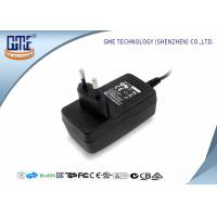 Quality 1.25A Audio Switching Power Adapter EU Plug Black 90V - 264V AC With Low Ripple wholesale
