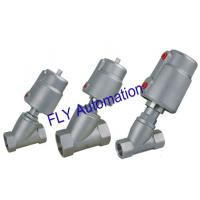 Quality 2000 Threaded Port 2/2 Way Angle Seat Valve Integrated Pneumatic PPS Actuator wholesale