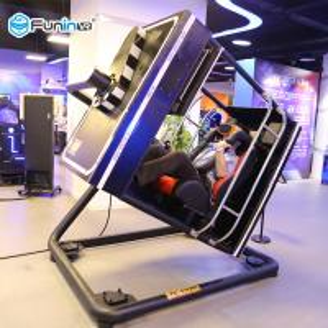 Quality Indoor Arcade 9D VR Game Machine Virtual Reality Flight Simulator Blue / Black / Yellow wholesale
