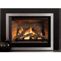 Quality Classic Designed Direct Vent Gas Fireplace Remote Control Big Front View wholesale