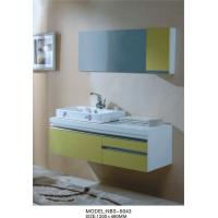 Quality single Ceramic basin white floating bathroom vanities Stainless steel soft hinges wholesale