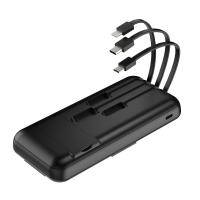 China Black / White Power Bank Inbuilt Cable  , Power Bank Wireless Fast Charging on sale