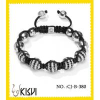 Quality Low MOQ and sample order available CZ crystal & alloy crystal beaded bracelet wholesale