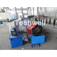 Quality Metal Stud And Track Roll Forming Machine , Sheet Metal Roll Former For Roof Truss wholesale