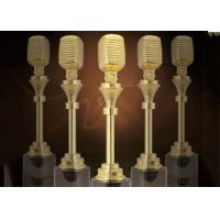 Quality Microphone Design Music Award Trophy For Musical Competition Custom Service Available wholesale
