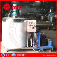 Cheap Dairy Stainless Steel Milk Tank With Cooling System Control Panel CE certificate for sale