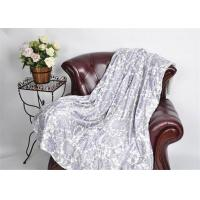 Quality Flower Printed thick Micro mink throw blankets For Home Reverse White Sherpa wholesale