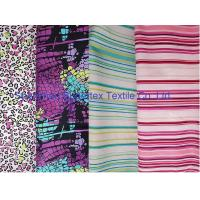 Cheap Weft Cotton Poplin Elastic Stretch Fabric  Reactive Print  for Shirt and Dresses for sale