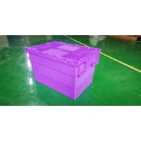 Quality Water - Proof 600*400*365 Mm Stacking Plastic Totes With Anti - Theft Button Seal wholesale