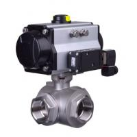 China Pneumatic clamp quick ball Health valve stainless steel  health articulated type pneumatic three-way ball valve on sale