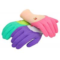 Quality Custom Latex Coated Work Gloves , Ladies Gardening Gloves With Micro Foam wholesale