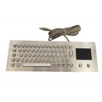 China Italian Ergonomics Panel Mount Keyboard 66 Keys Built In Touchpad For PC on sale