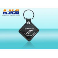 China Smart Customize Rfid Key Fob programming,Leather Vehicles / Door rfid key chain on sale
