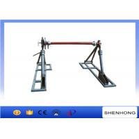 Quality Integrated disc tension brake cable reel drum stand for 50KN capacity wholesale