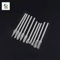 Quality Double Flute Rotary File Color Coating Solid Carbide Burrs For High Speed Debarring Work Piece wholesale