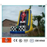 Quality Large Outdoor Waterproof inflatable dry slides / wet slide for aqua water park wholesale