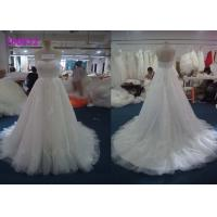 Quality A Line French Sweetheart Princess Bride Wedding Dress With Lace Beaded Decoration wholesale