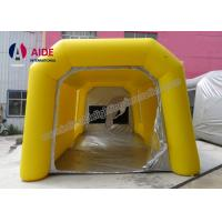 Cheap Pvc Tarpaulin Inflatable Paint Booth , Yellow Color Portable Spray Booth For for sale