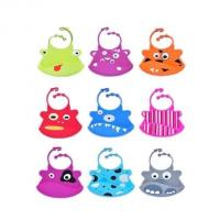 Quality waterproof silicone baby bibs with snaps adjustable ,silicone kid bib wholesale