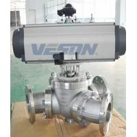 China Y Type 135 Degree 3 Way Pneumatic Ball Valve With Pneumatic Actuator on sale