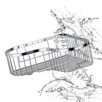 Quality Bathroom Accessory Corner Basket Shelf Stainless Steel Easy Installation wholesale