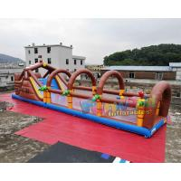 Quality Pirate Tarpaulin Blow Up Obstacle Course Racing Game Commercial wholesale