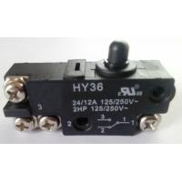 Quality Micro Electric Power Switch , Black Round Cap Push Button Power Switch AC wholesale