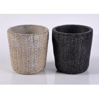 Quality Spraying ceramic votive candle holders / Hand Made black candle holders wholesale