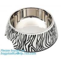 Dual-Purposed Dog Water Food Feeder Plastic Double Pet Bowls, Collapsible dog bowl plastic feeder pet cat food foldable