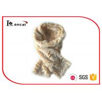 China Yellow Crinkle Pattern Faux Fur Cowl Scarf Durable Fox Fur Infinity Scarf on sale