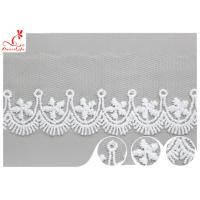 Quality Polyester Width 3CM Ribbon Embroidered Lace Trim For Wedding Dress wholesale