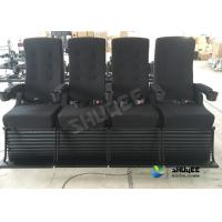 Quality Playground Center 4D Movie Theater Motion Chair Bubble / Fire / Smoke Effects wholesale