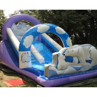 Quality Polar Bear Inflatable Bouncy Castle With Slide Fully Digital Printing wholesale