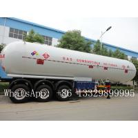 China CLW brand 3 axles BPW  LPG Tank Trailer Truck 58.5 m3 for sale, best price CLW brand 58500L propane gas tank semitrailer on sale