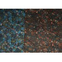 Quality Blue And Brown R/C Printed Stretch Velveteen Fabric 32/2*16+70D wholesale