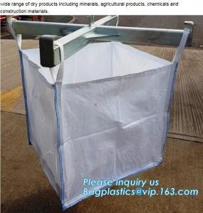 China PP woven big bag for firewood, for sand, for grains etc.500kg 1000kg 1200kg 1500kg 2 ton,Flat bottom open mouth virgin P on sale
