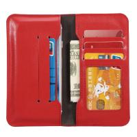 Quality Press Print Universal Cell Phone Leather Wallet Case Beyond 4.7 Inch Five ID Card Slot wholesale