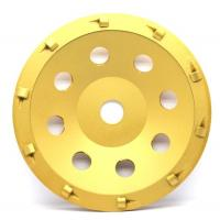 Quality 5& 7 PCD Diamond grinding Wheel with quarter size PCD segments For Concrete Floor Coatings Removing wholesale