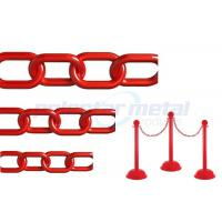 Quality ISO Approved Decorative Lightweight Red Plastic Safety Chain For Street wholesale