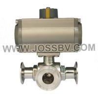 Quality Sanitary Three-Way Ball Valve with Actuator wholesale