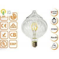 China Clear Glass Decorative Led Light Bulbs , Dimmable Tip Pumpkin LED Chandelier Bulbs on sale