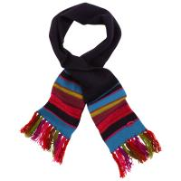 China Multi Coloured Kids Cute Knitted Scarves Blank Woven Logo Available 20*130-1cm on sale