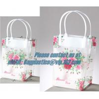 clear PP carry bag, PP Supermarket clear pvc Shopping plastic Bag, Fashion clear plastic shopping bags with handles